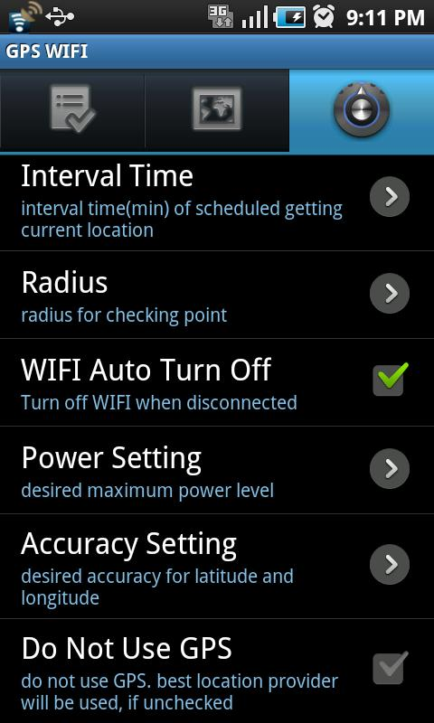 GPS WIFI - screenshot