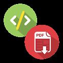 WebPage to PDF icon