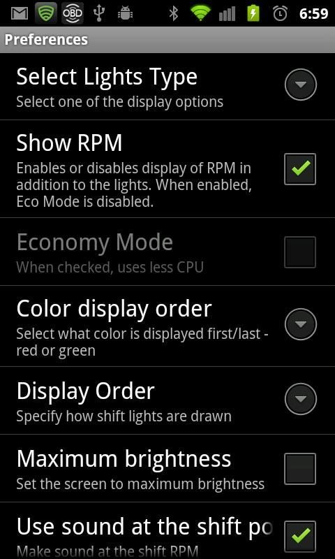 Shift Light Pro 4 Torque Pro- screenshot