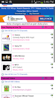 Screenshot of Reliance Live Mobile Tv Online