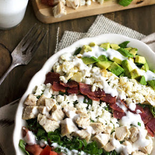 Skinny Cobb Salad {Low Carb, Low Calorie, Low Fat & High Protein}.