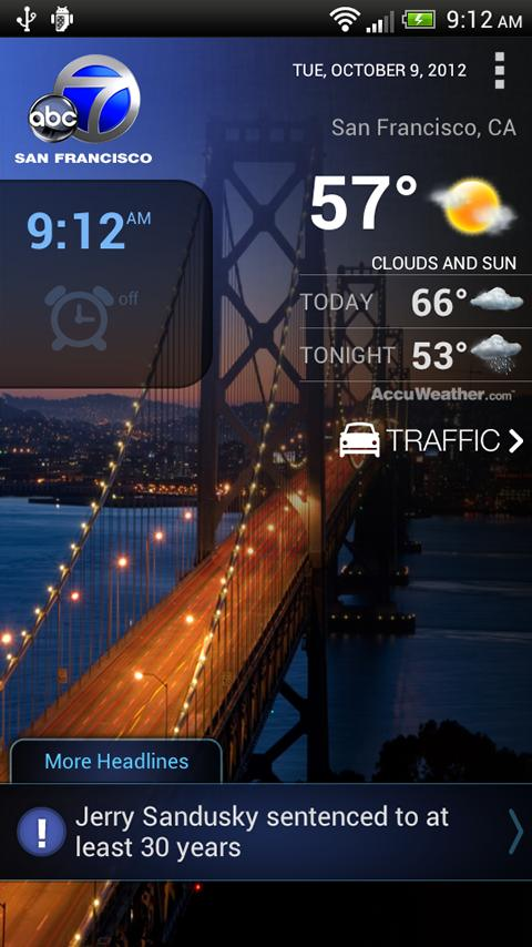 ABC7 News San Francisco Alarm - screenshot