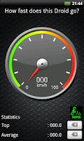 Screenshot of SpeeDroidMeter - SpeedoMeter