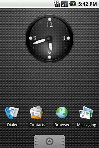 KDE Carbon Clock Widget 2x2 - screenshot