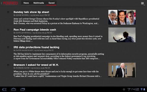 POLITICO For Tablet- screenshot thumbnail