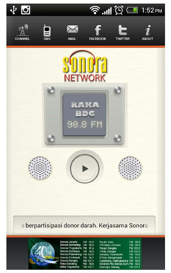 Radio Sonora- screenshot