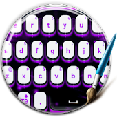 Purple Flames Keyboard