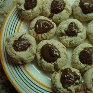 Chocolate Hazelnut Thumbprint Biscuits.