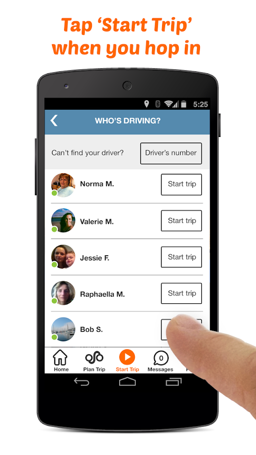 Carma Carpooling- screenshot
