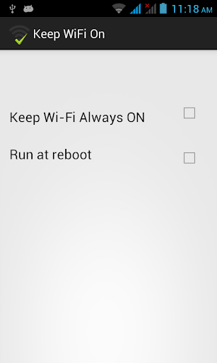 Keep WiFI On