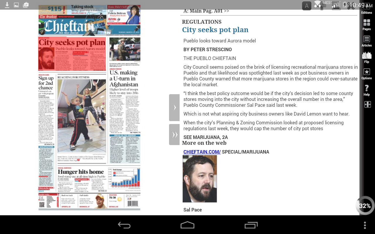 Pueblo Chieftain E-edition- screenshot