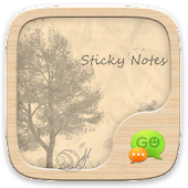GO SMS PRO STICKY NOTES THEME