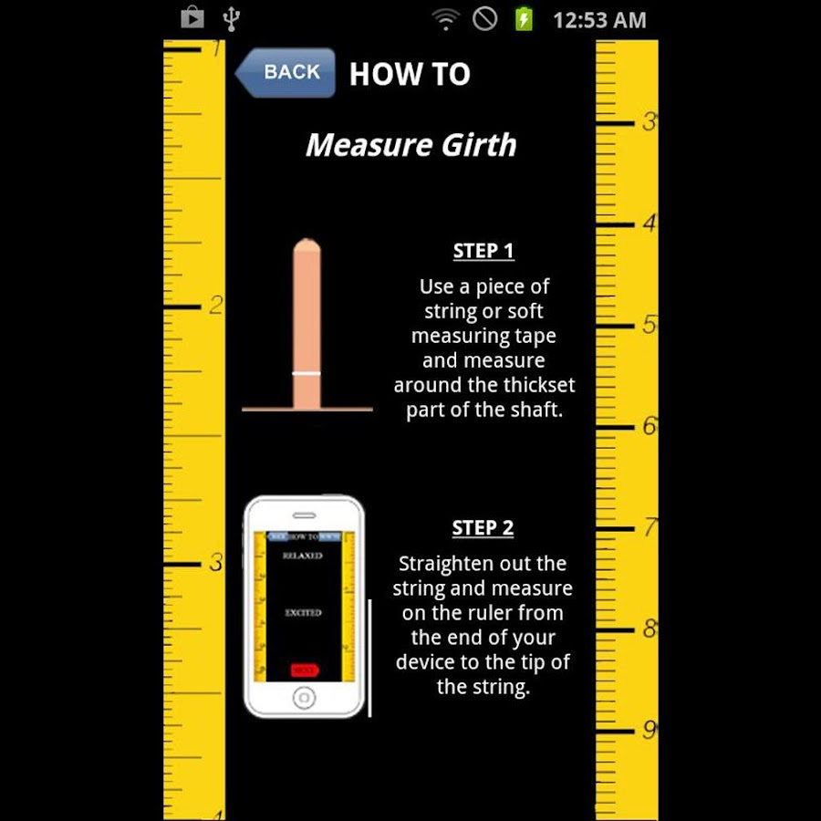 Penis Size Calculator and Rank - screenshot