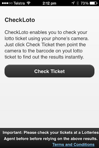 Check Lotto Ticket - Australia