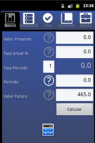 Easy Financial Calculator - screenshot