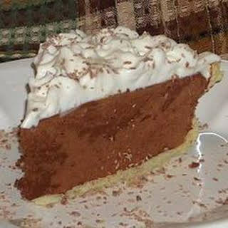 Sinfully Delicious Chocolate Pie.