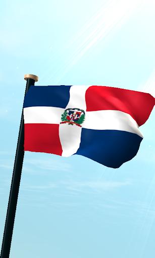 ドミニカ共和国フラグ3Dライブ壁紙