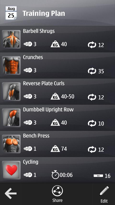 Barbell Gym Tracker - screenshot
