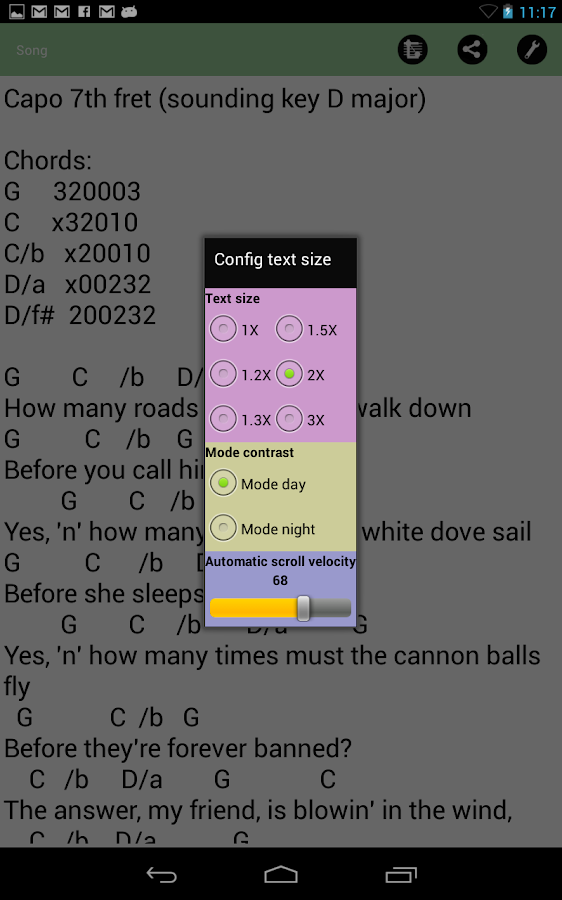 MySongBook- screenshot