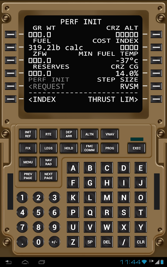 Virtual CDU 777- screenshot