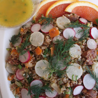 Buckwheat Tabbouleu with Roasted Young Turnips and Crunchy Radishes