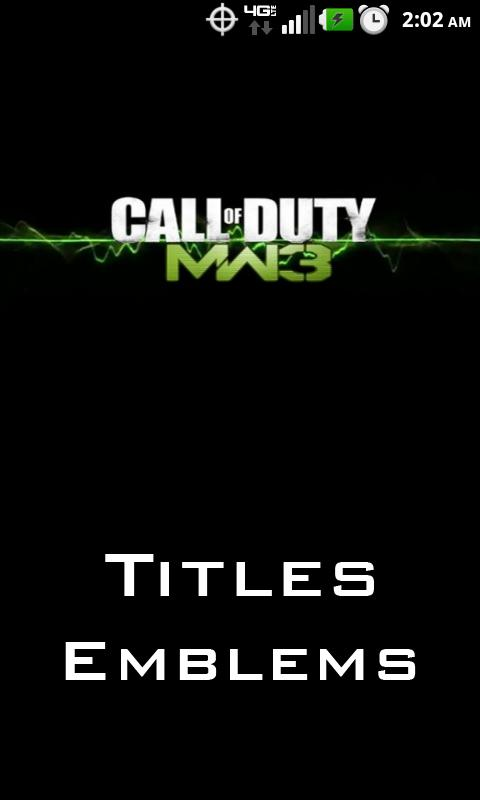 MW3 Titles and Emblems - screenshot