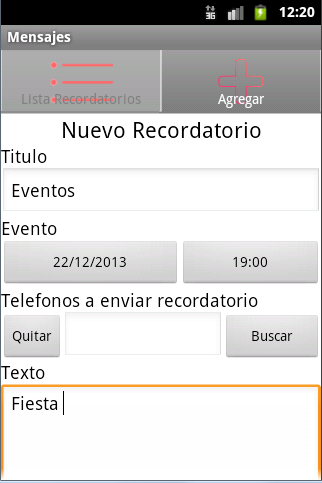 Recordatorios SMS