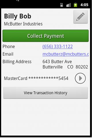 PaySimple Credit Card Terminal - screenshot