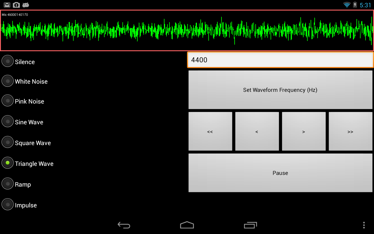 SoundForm Signal Generator- screenshot