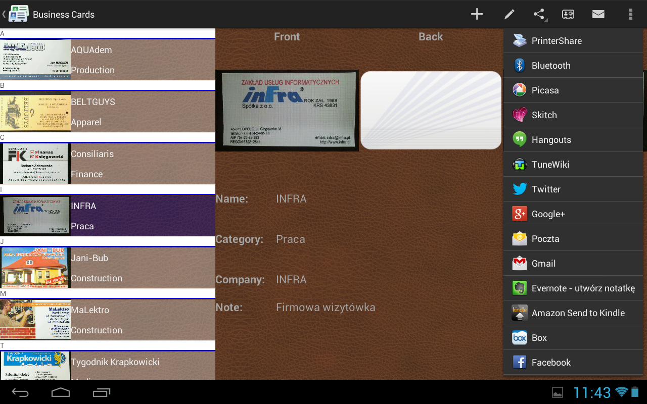 Business Cards Android Apps on Google Play