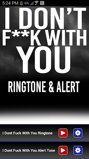 I Don't Fuck With You Ringtone