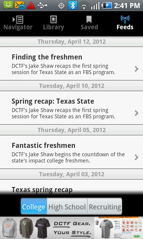 Dave Campbell's Texas Football- screenshot