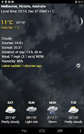 Transparent clock & weather Screenshot 25