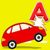 Juego de carro alfabeto, niños
