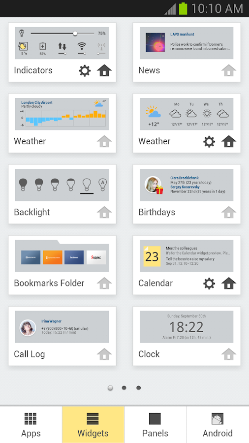 Yandex.Shell (Launcher+Dialer) - screenshot