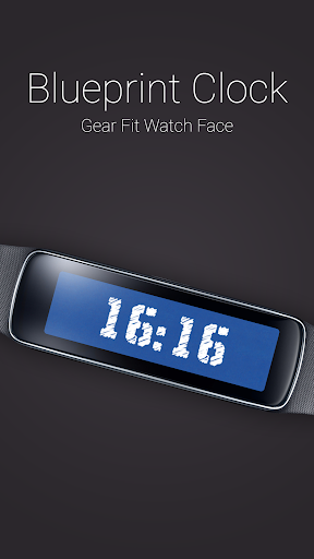 Blueprint Clock for Gear Fit