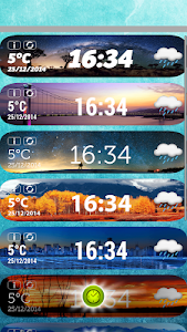 Awesome Weather Clock Widget screenshot 1