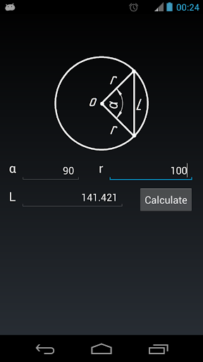 Chord length of the circle
