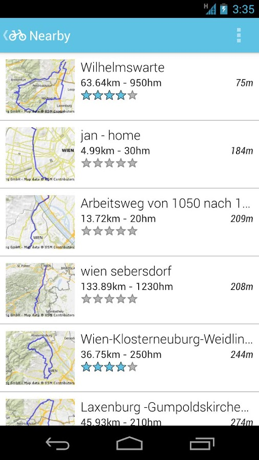 Bikemap – Your bike routes - screenshot