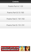 Screenshot of D. H. Lawrence Poems FREE
