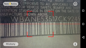 Screenshot of VIN Barcode Scanner
