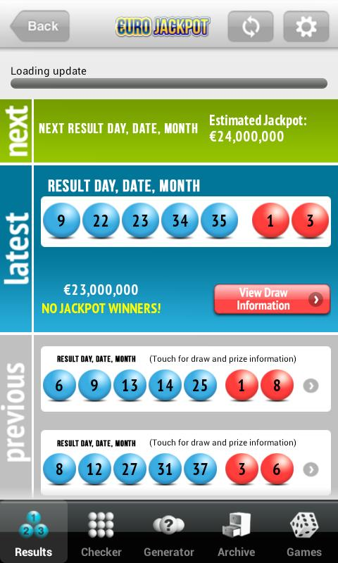 Lotto.net Lottery App - screenshot