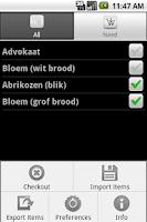 Screenshot of ShoppingCart