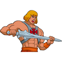 80s Cartoon Sb: He-Man logo