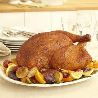 Savory Herb Rub Roasted Turkey.