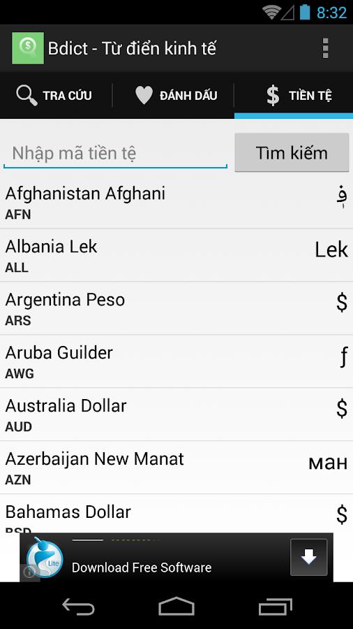 Bdict - Từ điển kinh tế - screenshot