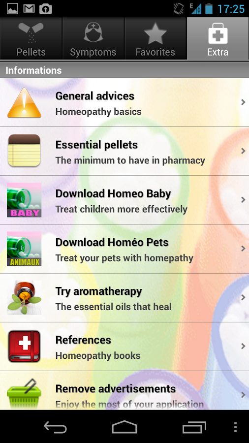 Screenshots of Homeo Guide for iPhone