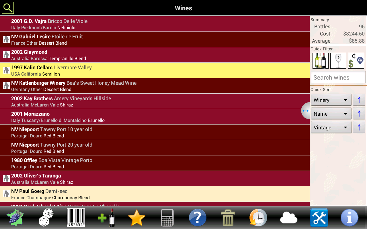 Wine Tracker - screenshot