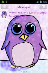 GO SMS Pro Theme Penguin - screenshot thumbnail
