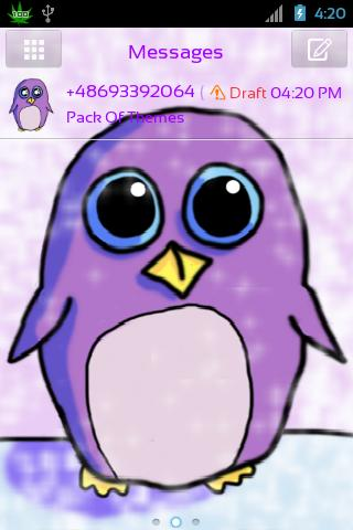 GO SMS Pro Theme Penguin- screenshot